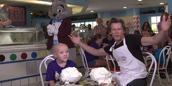 Kevin Bacon visits Give Kids the World