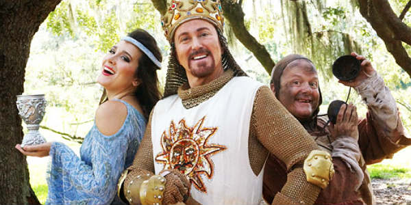 The cast of Orlando Shakespeare Theater's production of Monty Python's SPAMALOT