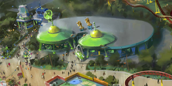 Toy Story Land Announced for Disney's Hollywood Studios - Alien Saucers