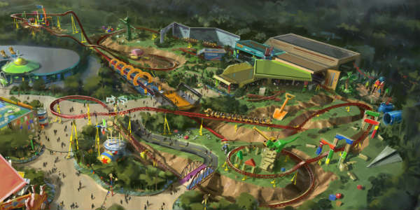 Toy Story Land Announced for Disney's Hollywood Studios - Slinky Dog Coaster