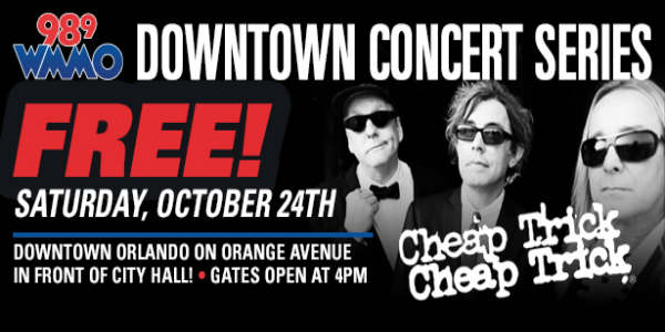 Cheap Trick to Headline WMMO Downtown Concert Series
