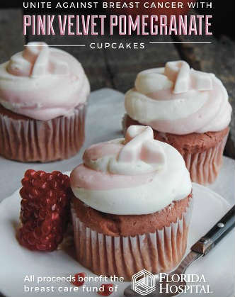 The Sweet Shop at 4 Rivers Smokehouse - Pink Pomegranate Cupcake
