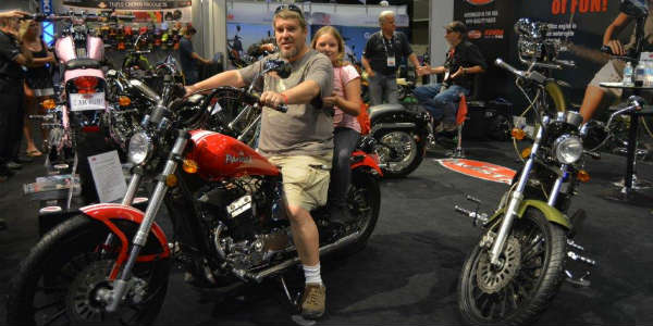 AIMExpo 2015 - family on motorcycle