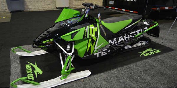 AIMExpo 2015 - snowmobile on display