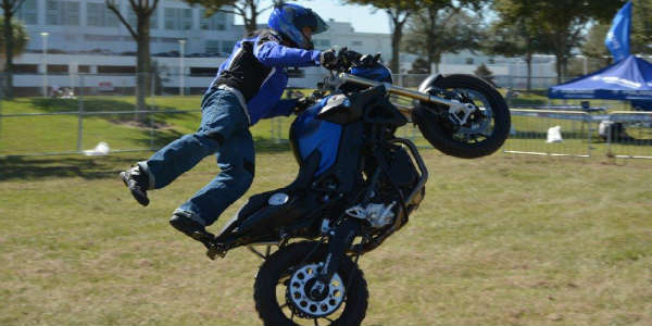 AIMExpo 2015 - motorcycle wheelie
