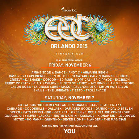 Electric Daisy Carnival Orlando 2015 lineup