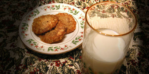 Santa - cookies and milk