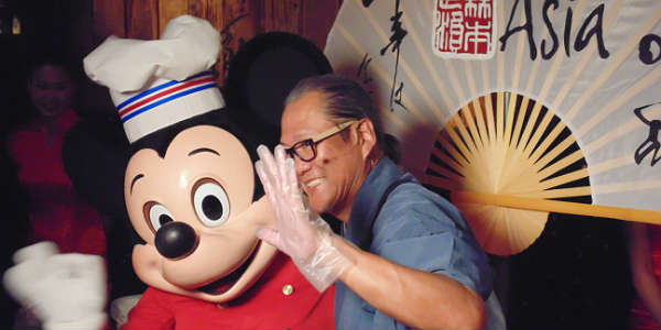 Chef Mickey meets Chef Morimoto at Morimoto Asia at Disney Springs