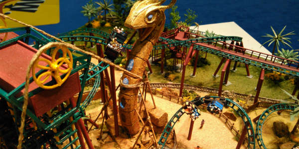 IAAPA mock-up of Cobra's Curse at Busch Gardens Tampa
