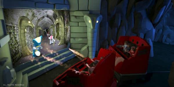 IAAPA mock-up of Ninjago ride at LEGOLAND