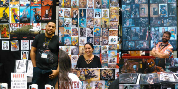 MegaCon Fan Days - artist tables