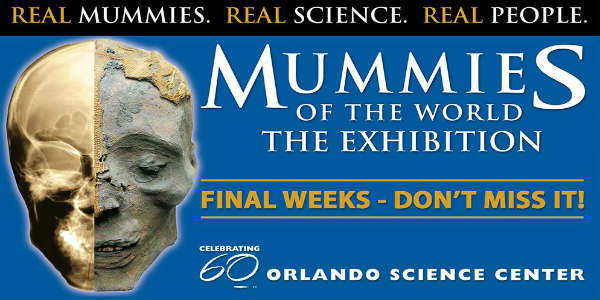 Mummies of the World exhibition at the Orlando Science Center