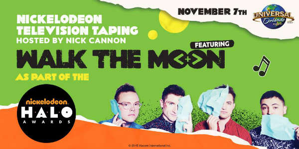 Universal Orlando to Host Nickelodeon Halo Awards Taping with WALK THE MOON and Nick Cannon Nov 7