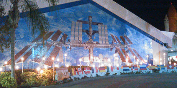 Holidays In Space at Kennedy Space Center Visitor Complex - ISS mural