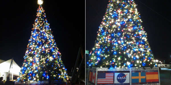 Holidays In Space at Kennedy Space Center Visitor Complex - Christmas tree