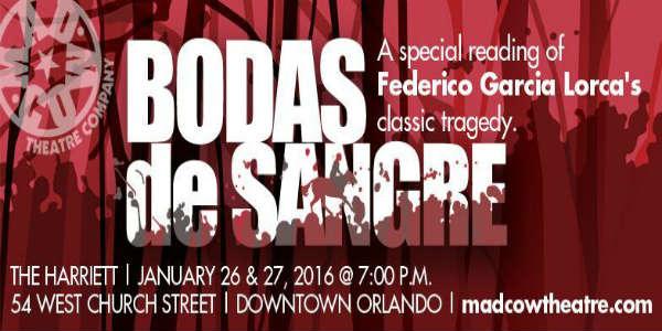 Mad Cow Theatre Presents Special Reading of Bodas de Sangre