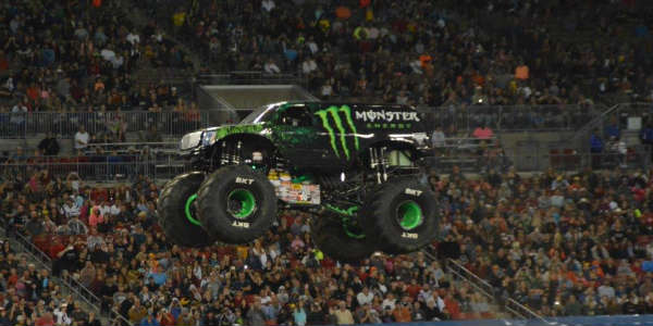 Monster Energy truck at Monster Jam in Tampa Jan 16 2016 by Kirk Garreans