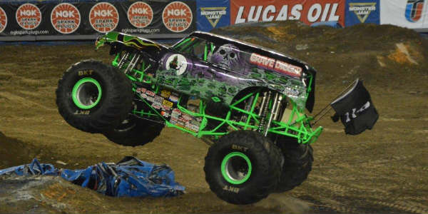 Grave Digger at Monster Jam in Tampa Jan 16 2016 by Kirk Garreans