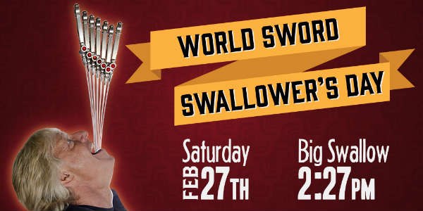 Ripley's Believe It or Not! Orlando Celebrates World Sword Swallower's Day