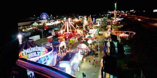Osceola County Fair at night - photo by Carol Garreans