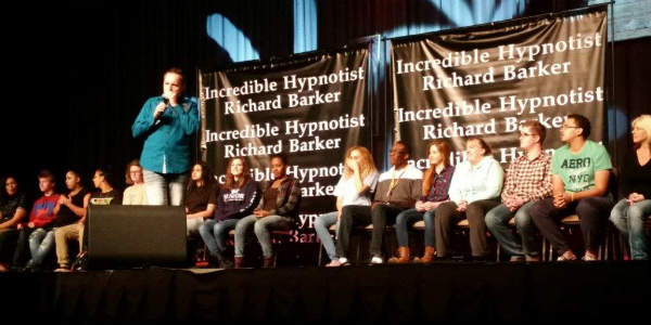 Osceola County Fair - hypnotist Richard Barker - photo by Carol Garreans