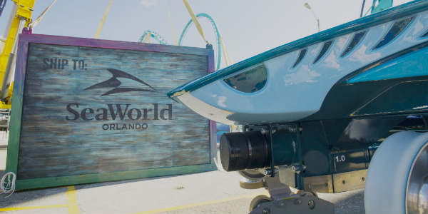 Mako coaster car at SeaWorld Orlando