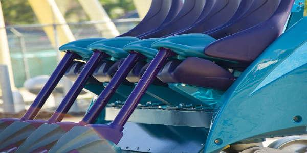 Mako coaster car at SeaWorld Orlando