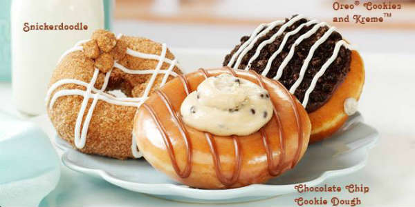 Krispy Kreme Doughnuts is now offering three indulgent, cookie-themed doughnuts for a limited time.