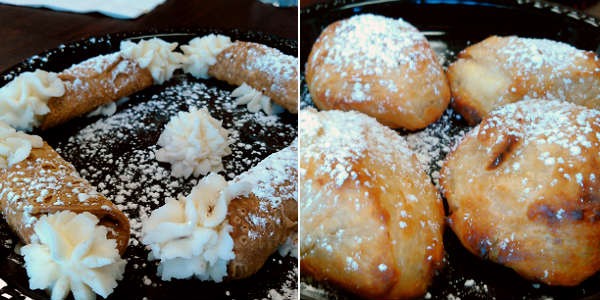 The Meatball Stoppe - cannoli and Sfogliatelli
