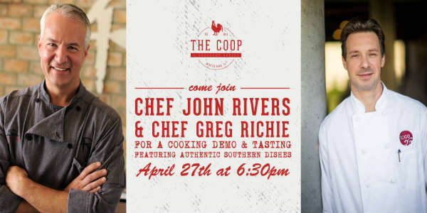 Chef John Rivers will be joined by Chef Greg Richie at The COOP