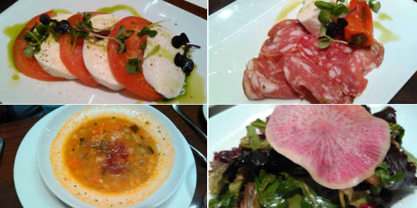 Tutto Italia - appetizers - Caprese - antipasto - minestrone - insalata