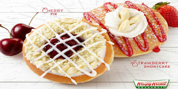 Krispy Kreme introduces two summertime flavors of doughnuts: Cherry Pie and Strawberry Shortcake