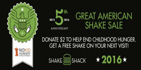 Shake Shack is hosting The Great American Shake Sale