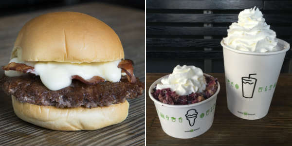 Shake Shack Bacon CheddarShack Burger and Blueberry Pie Oh My.