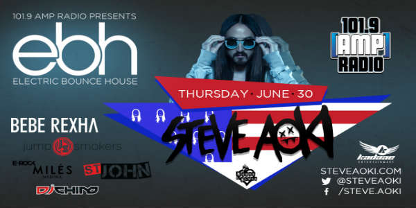 101.9 AMP Radio's Electric Bounce House with Steve Aoki