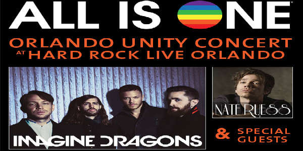 Imagine Dragons and Nate Ruess to Play #AllIsOne Orlando Benefit at Hard Rock Live