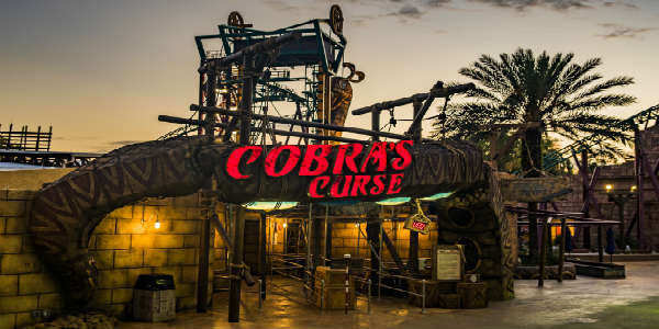 Cobra's Curse at Busch Gardens Tampa Bay - entrance