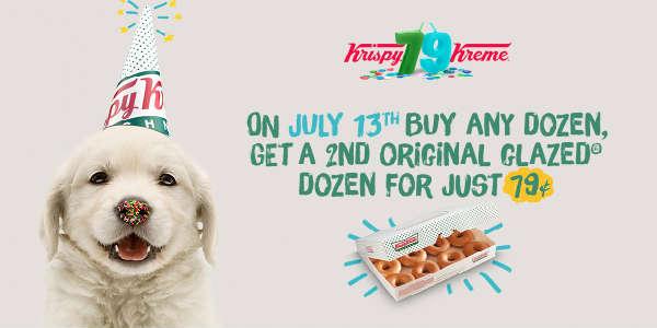 Krispy Kreme Doughnuts celebrates its 79th birthday on July 13