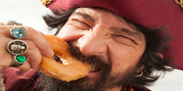 International Talk Like A Pirate Day at Krispy Kreme