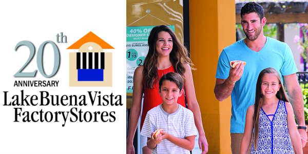 Shop 20 Years of Deals at Lake Buena Vista Factory Stores