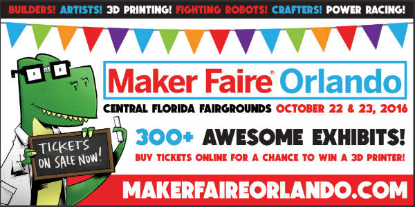 Maker Faire Orlando Returns for Fifth Anniversary Oct 22-23, 2016