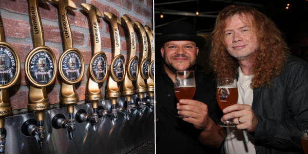 Megadeth frontman Dave Mustaine has partnered with Brewmaster Jerry Vietz of Canadian beer brand Unibroue for a new beer called À TOUT LE MONDE