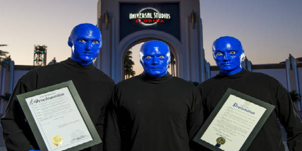 City of Orlando and Orange County Declare Blue Man Group Day on Nov 17, 2016