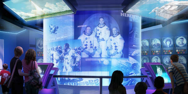 Heroes and Legends featuring the U.S. Astronaut Hall of Fame is now open at Kennedy Space Center Visitors Complex