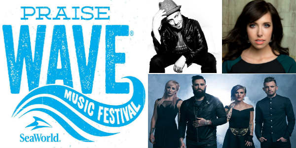 Praise Wave 2017 brings Christian music concerts by TobyMac, Francesca Battistelli, and Skillet to SeaWorld Orlando Saturdays Jan 14 - 28.