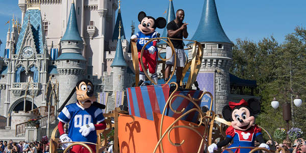 Patriots Running Back James White Celebrates Super Bowl Win at Walt Disney World