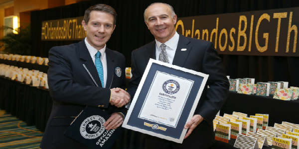 Orlando Thanks Visitors in a Guinness World Records Way for Making it No. 1 Destination in U.S.