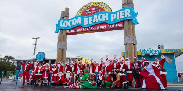 Skydiving Santas Return To Cocoa Beach Pier