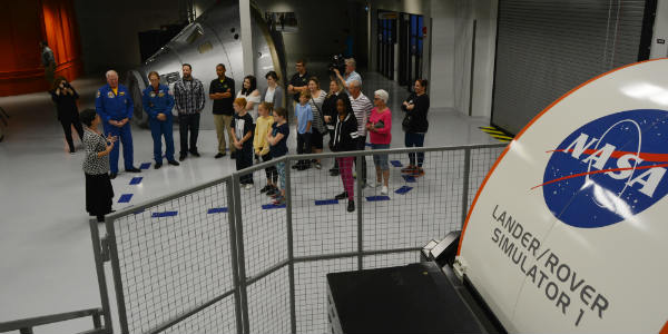 The New Astronaut Training Experience at Kennedy Space Center Visitor Complex -simulator