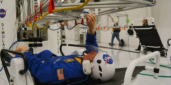 The New Astronaut Training Experience at Kennedy Space Center Visitor Complex -microgravity simulator